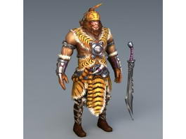 Barbarian Warrior Concept Art 3d preview