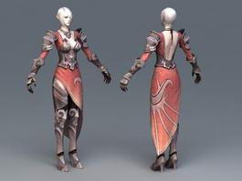 High Elf Female Art 3d model preview