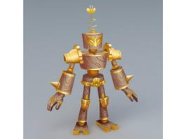 Gold Golem 3d preview