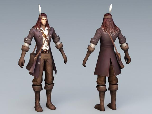 Male Adventurer 3d rendering