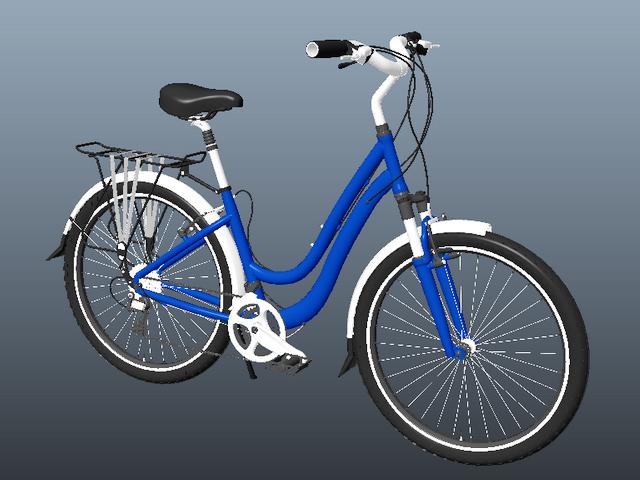 Flat Bar Road Bike 3d rendering