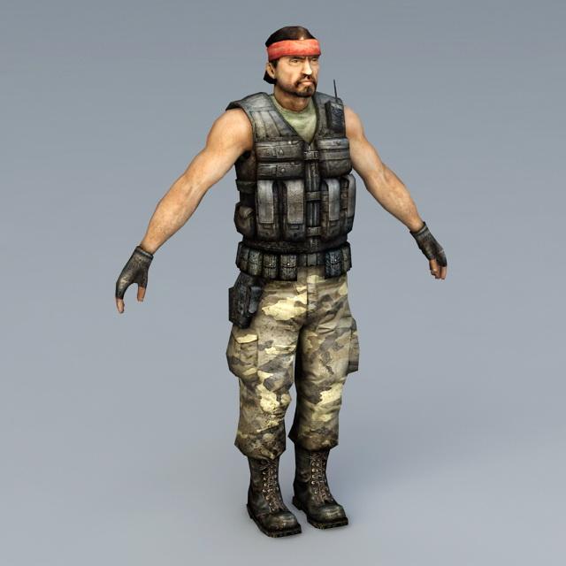 Guerilla Soldier 3d rendering
