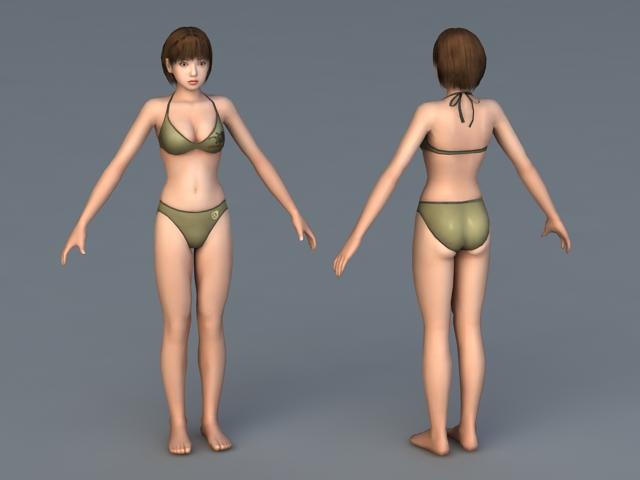 Korin Bikini 3d rendering