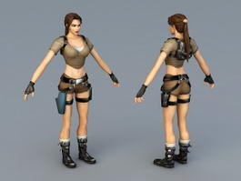 Lara Croft 3d preview