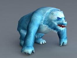 Blue Ice Bear 3d model preview