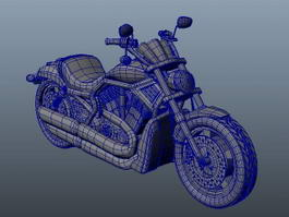 Motorcycle 3d model preview