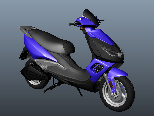 Moped Scooter 3d rendering