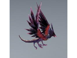 Animated Monster Bird 3d model preview