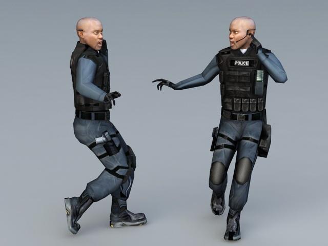 SWAT Special Agent 3d rendering