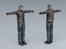 Resident Evil Leon Kennedy 3d preview