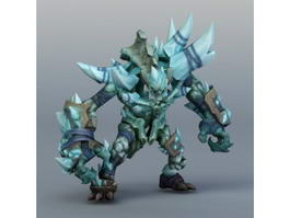 Ice Golem Concept Art 3d preview