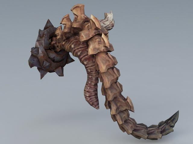 Scary Skull Monster 3d rendering