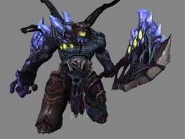 Demons Monster 3d model preview