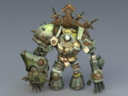 Steampunk Golem 3d preview