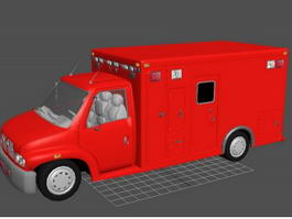 Red Fire Truck 3d preview