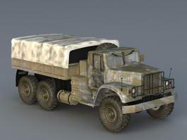 Russian Kraz Truck 3d model preview