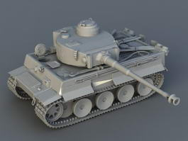 Battle Tank 3d model preview