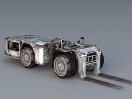 Decker Forklift Truck 3d preview
