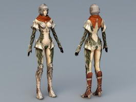 Anime Female Knight 3d preview