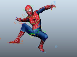 Classic Spider-Man 3d model preview