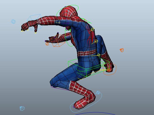 Classic Spider-Man 3d rendering