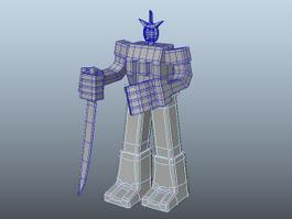 Simple Robot Warrior 3d model preview