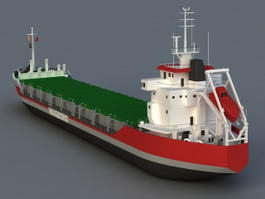 Merchant Container Ship 3d preview