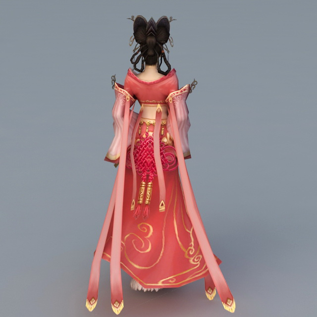 Ancient Chinese Beauty Rigged 3d rendering