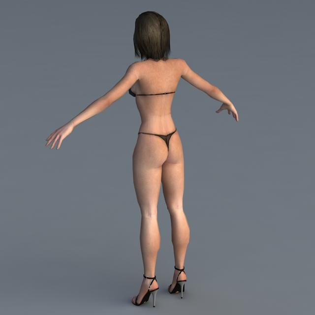 Woman in Bikini 3d rendering
