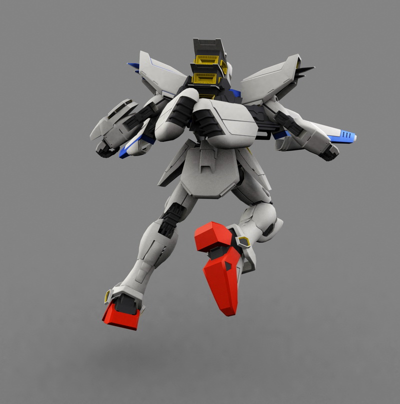 Mobile Suit Gundam F91 3d rendering