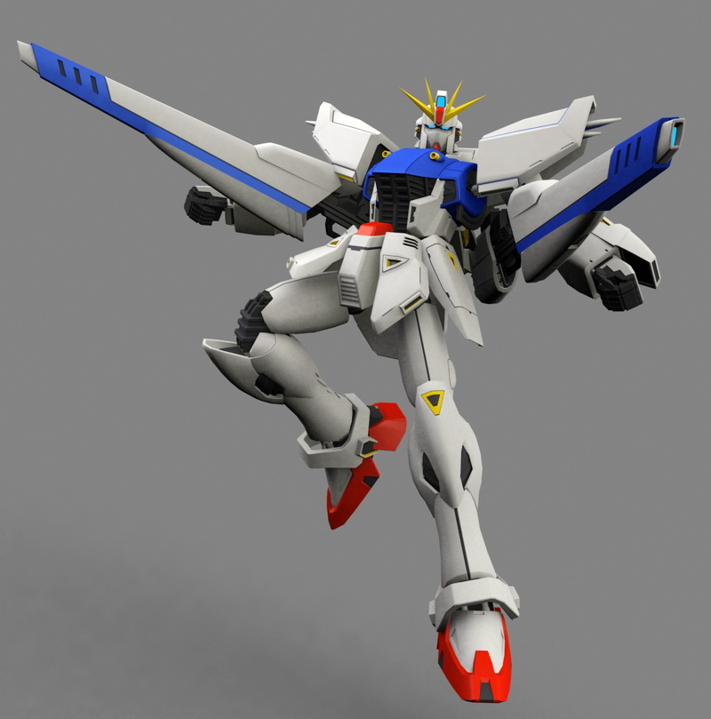 Mobile Suit Gundam F91 3d rendering