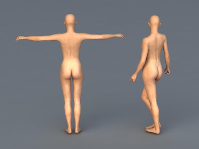 Naked Woman Figures 3d rendering