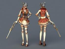 Anime Gunner Girl 3d preview