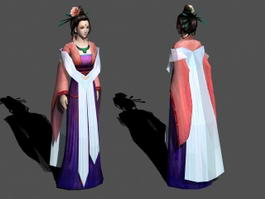 Medieval Asian Noblewoman 3d preview