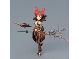 Dragon Nest Sorceress Karacule 3d preview