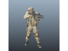 Marine Special Forces Soldier 3d preview