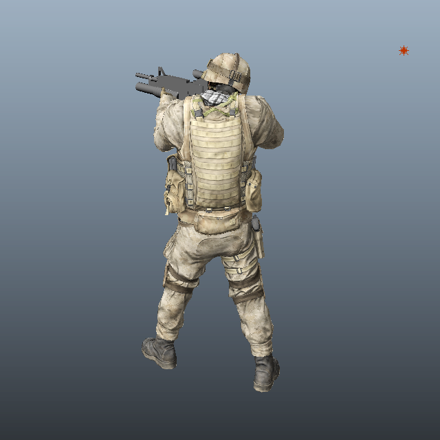 Marine Special Forces Soldier 3d rendering