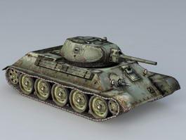 T-34/76 Mine Roller Tank 3d model preview