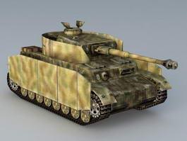 Panzer IV German Tank 3d model preview