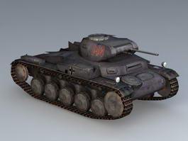 Panzer 2 Tank 3d preview