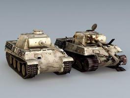 Panzer IV Ausf.G Tank 3d model preview
