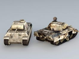 Panther Ausf A Tank 3d model preview
