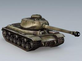 Russian IS2 Tank 3d model preview