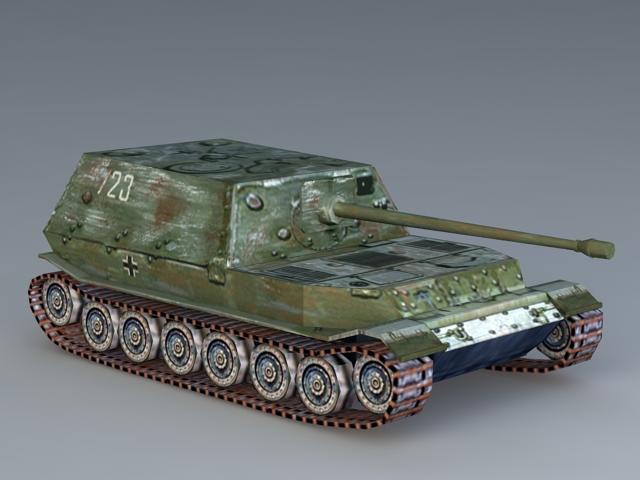 Tiger Tank 3d rendering