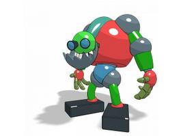 Cartoon Robot 3d model preview