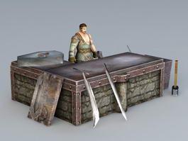 Medieval Asian Blacksmith 3d preview