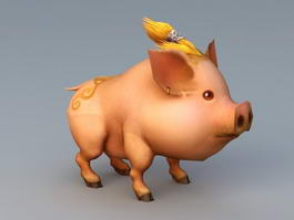 Cute Anime Pig 3d preview