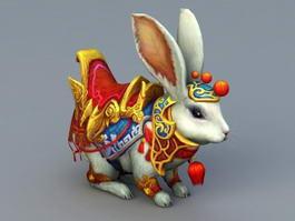 Anime Rabbit Mount 3d preview
