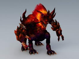 Lava Beast 3d preview