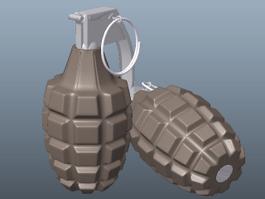 Modern Grenade 3d model preview